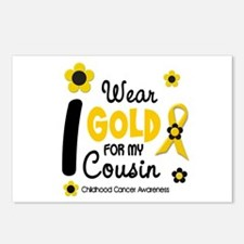I Wear Gold 12 Cousin CHILD CANCER Postcards (Pack