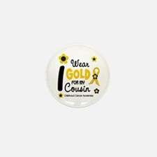 I Wear Gold 12 Cousin CHILD CANCER Mini Button (10