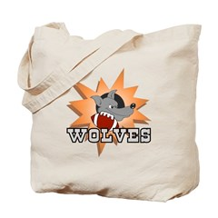 Wolves Football Team Tote Bag
