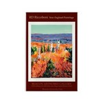 New England Connecticut Rectangle Magnet (100 pack
