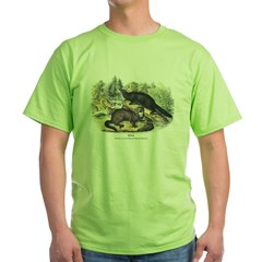 Audubon Mink Animal Green T-Shirt