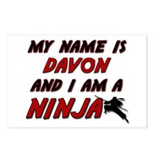 my name is davon and i am a ninja Postcards (Packa