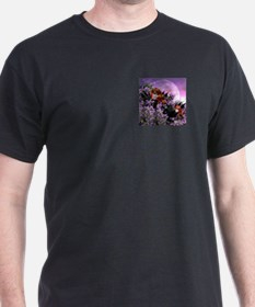 Evening Azaleas Black T-Shirt
