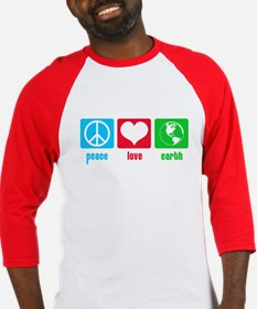 Peace Love Earth Baseball Jersey