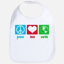 Peace Love Earth Bib