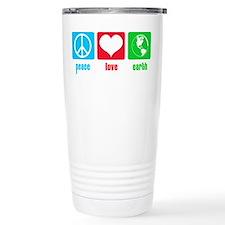 Peace Love Earth Travel Mug