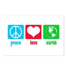 Peace Love Earth Postcards (Package of 8)