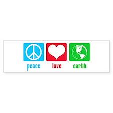 Peace Love Earth Bumper Bumper Sticker