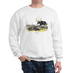 Audubon Moose Animal (Front) Sweatshirt