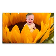Sunflower Baby Rectangle Decal