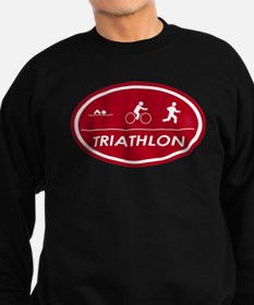 Triathlon Oval Red Sweatshirt