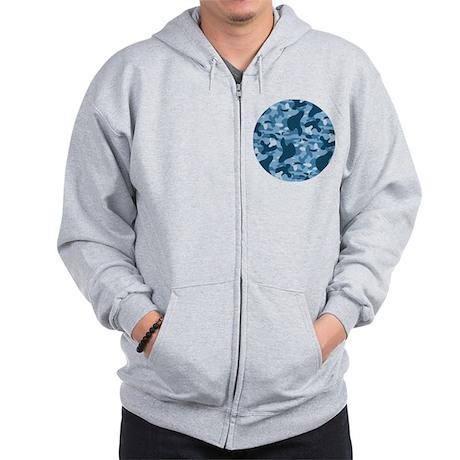 Urban Blue Camo Zip Hoodie