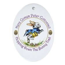PETER COTTONTAIL Oval Ornament