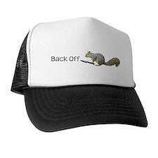 Squirrel Knife Back Off Trucker Hat