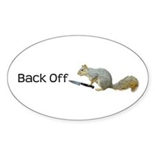 Squirrel Knife Back Off Decal