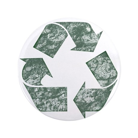 "Recycle Logo Earth Day T-Shir 3.5"" Button"