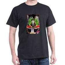 wizard on mushroom Black T-Shirt