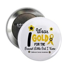 "I Wear Gold 12 Brave Girl 2.25"" Button"