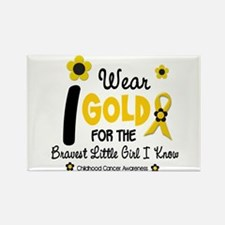 I Wear Gold 12 Brave Girl Rectangle Magnet