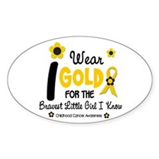 I Wear Gold 12 Brave Girl Oval Decal