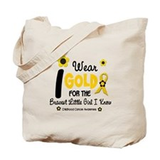 I Wear Gold 12 Brave Girl Tote Bag