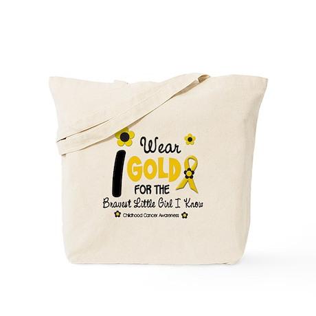 I Wear Gold 12 Brave Girl Tote Bag