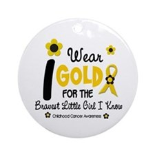 I Wear Gold 12 Brave Girl Ornament (Round)