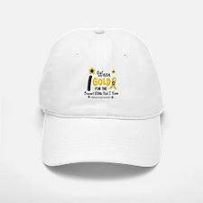I Wear Gold 12 Brave Girl Baseball Baseball Cap