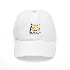 I Wear Gold 12 Brave Girl Baseball Cap