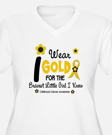 I Wear Gold 12 Brave Girl T-Shirt