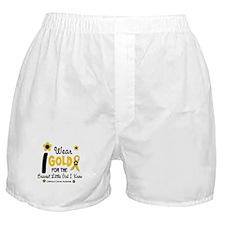 I Wear Gold 12 Brave Girl Boxer Shorts