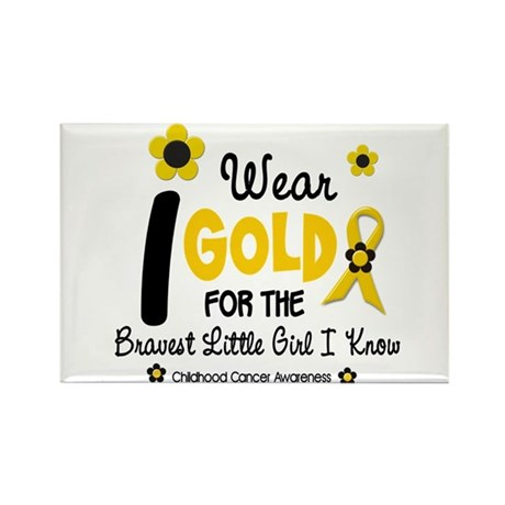 I Wear Gold 12 Brave Girl Rectangle Magnet (10 pac