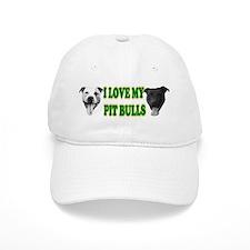 I Love My PBs (green) Baseball Cap