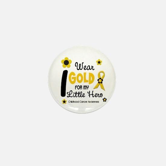 I Wear Gold 12 Little Hero CHILD CANCER Mini Butto