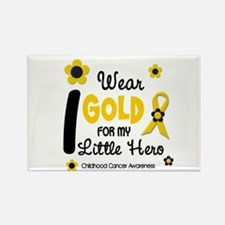 I Wear Gold 12 Little Hero CHILD CANCER Rectangle