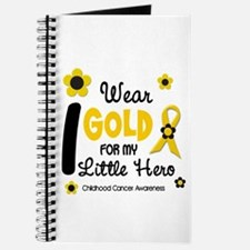 I Wear Gold 12 Little Hero CHILD CANCER Journal
