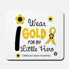 I Wear Gold 12 Little Hero CHILD CANCER Mousepad