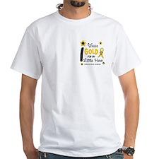 I Wear Gold 12 Little Hero CHILD CANCER Shirt