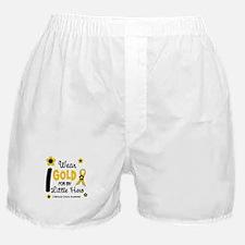 I Wear Gold 12 Little Hero CHILD CANCER Boxer Shor