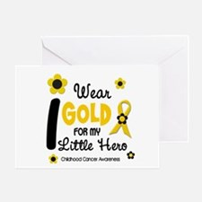 I Wear Gold 12 Little Hero CHILD CANCER Greeting C