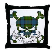 Ferguson Tartan Skull Throw Pillow
