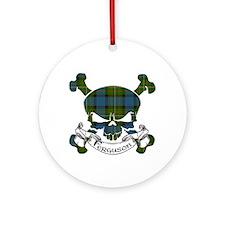 Ferguson Tartan Skull Ornament (Round)