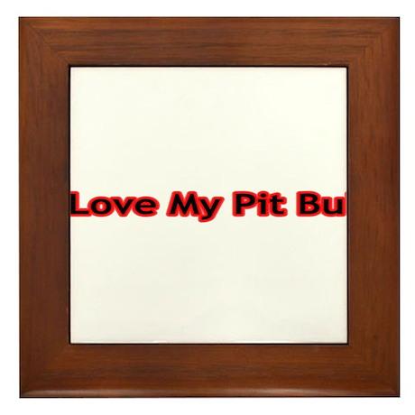 I Love My PB (red) Framed Tile