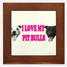I Love My PBs (pink) Framed Tile