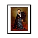 Lincoln / Flat Coated Retriev Framed Panel Print