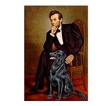 Lincoln / Flat Coated Retriev Postcards (Package o