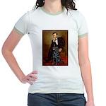 Lincoln / Flat Coated Retriev Jr. Ringer T-Shirt