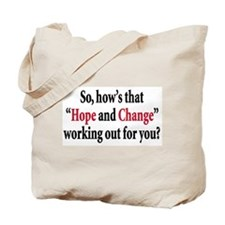Hope and change Tote Bag