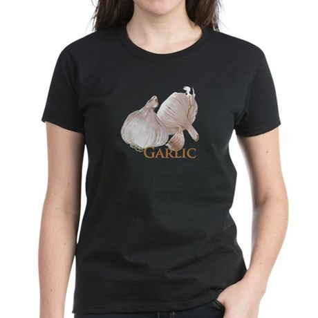 Garlic and Garlic Clove Women's Dark T-Shirt