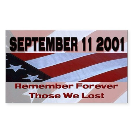 9/11 Rectangle Sticker